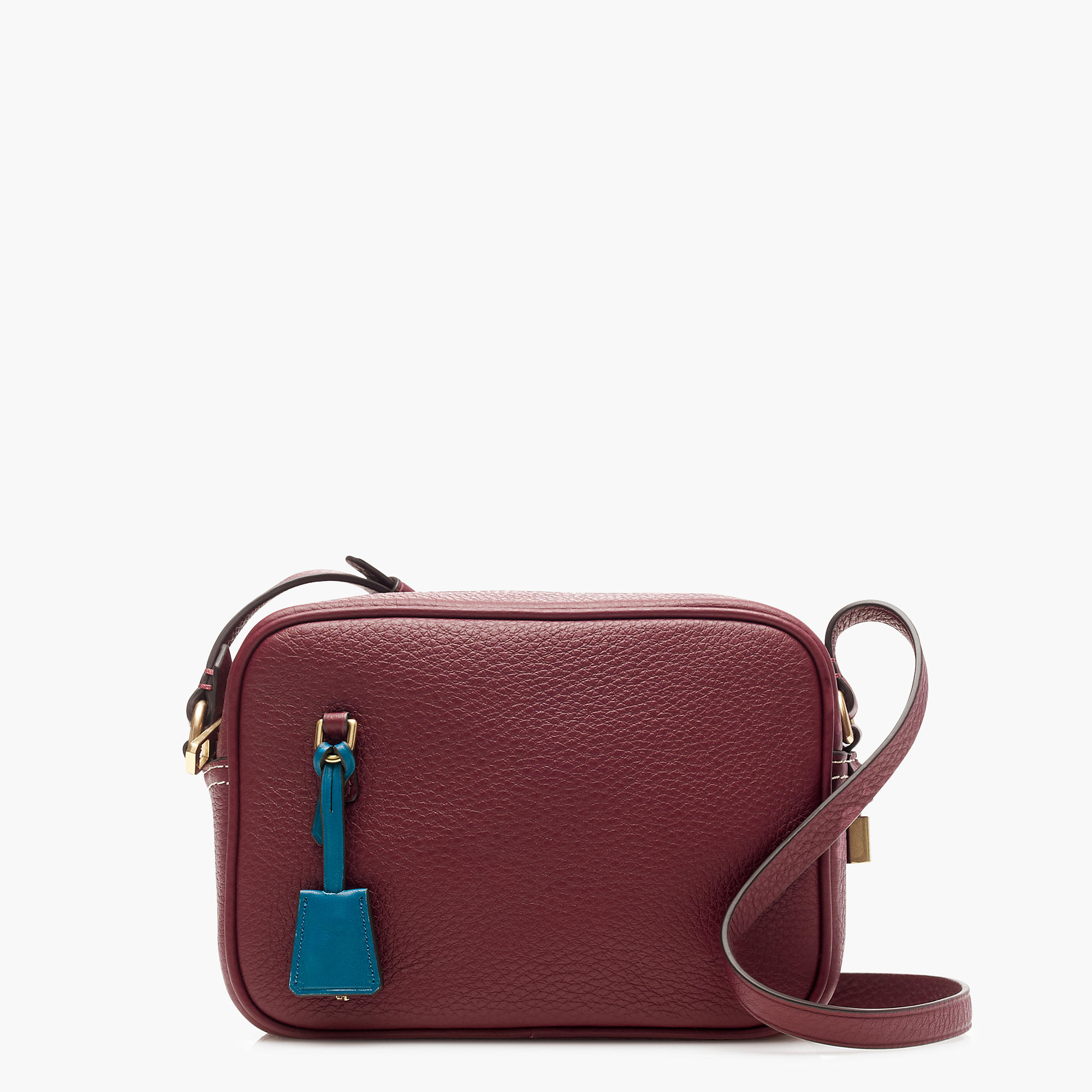 J.Crew Signet Bags in Italian Leather, Dark Wine