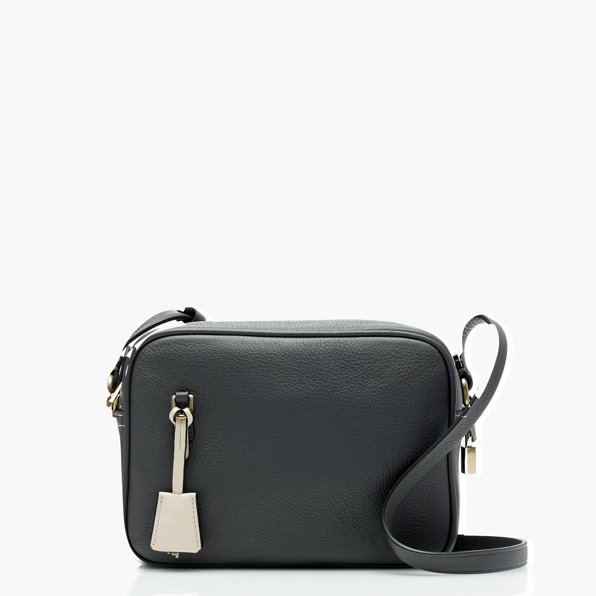 J.Crew Signet Bags in Italian Leather, Deep Pewter