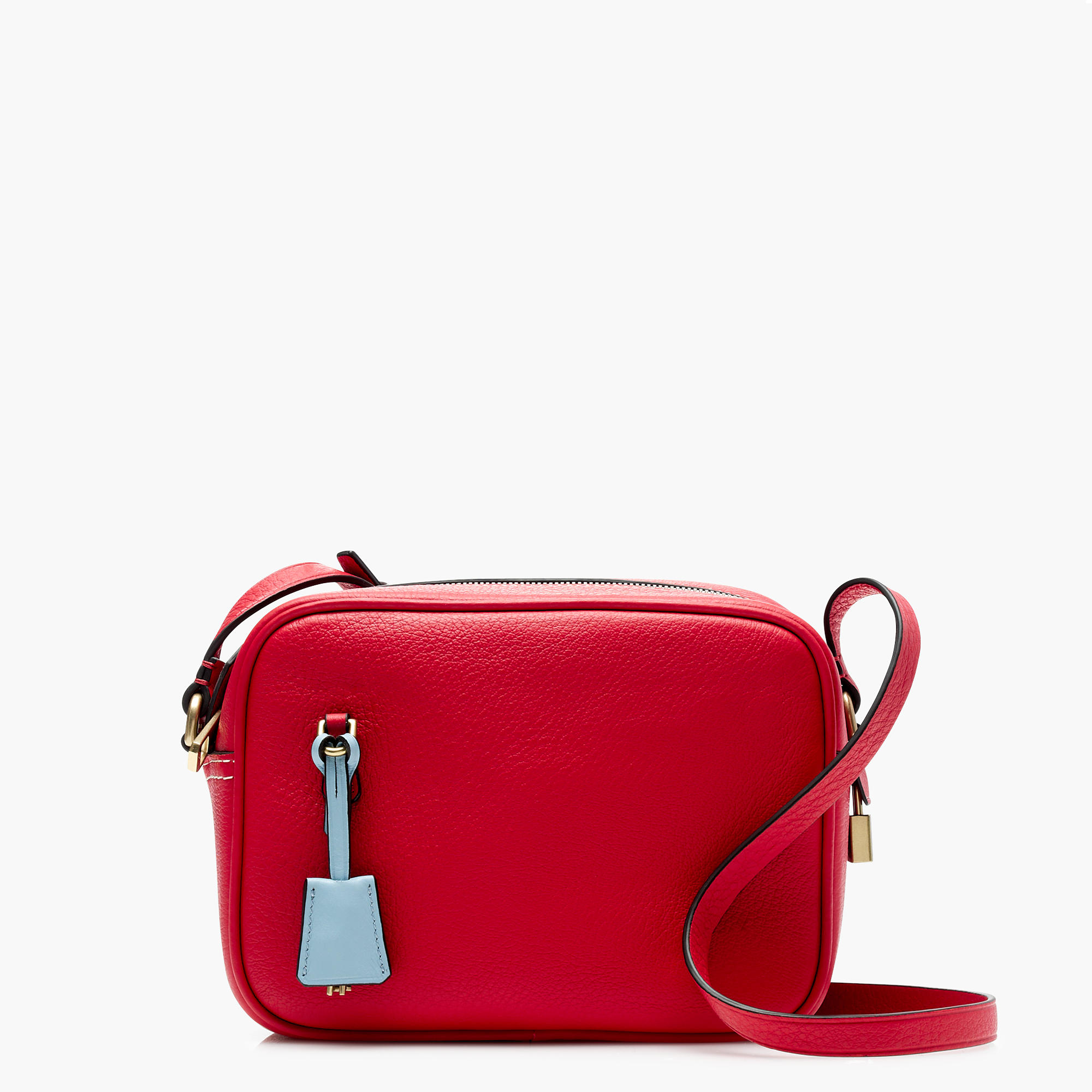 J.Crew Signet Bags in Italian Leather, Festival Red