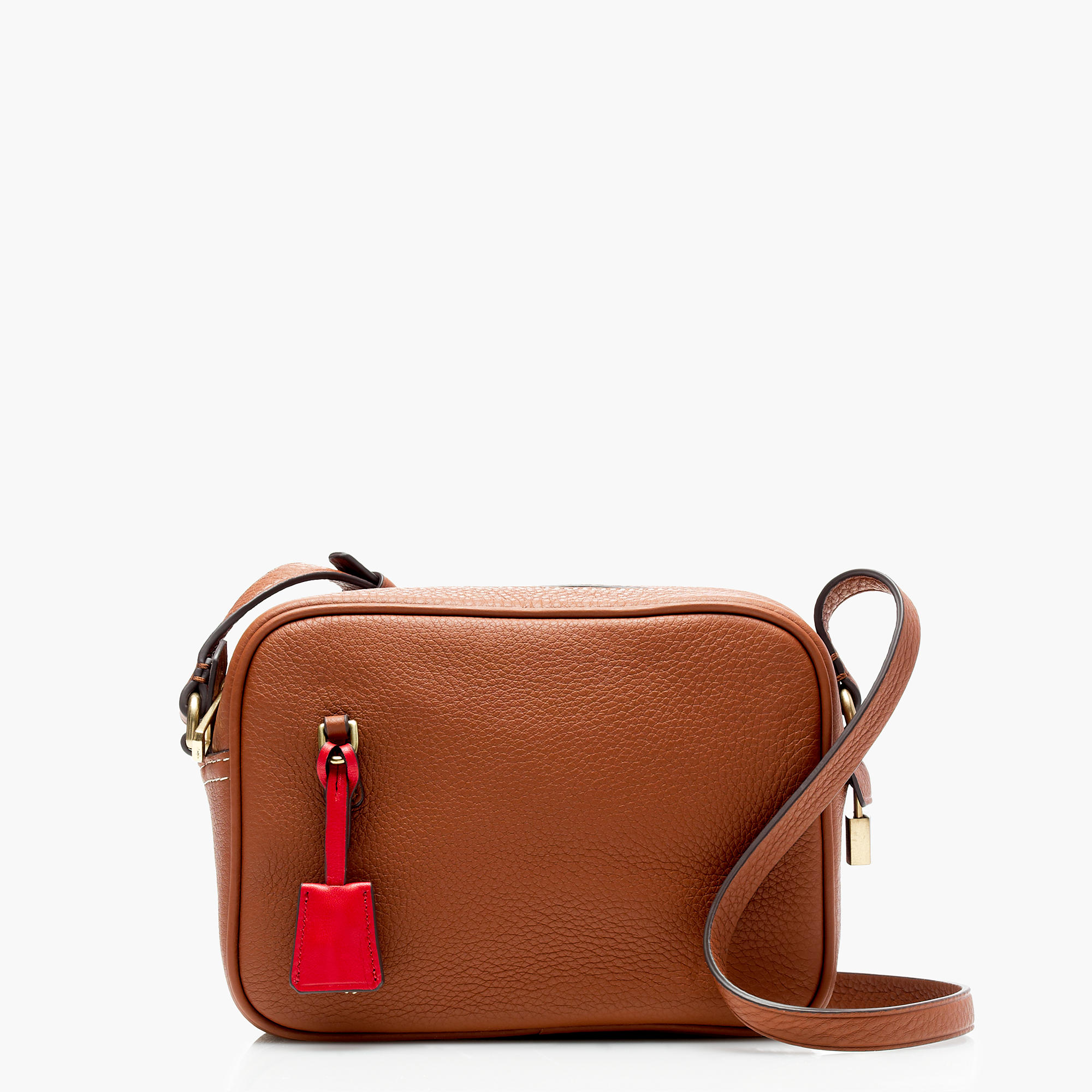 J.Crew Signet Bags in Italian Leather, Roasted Chestnut