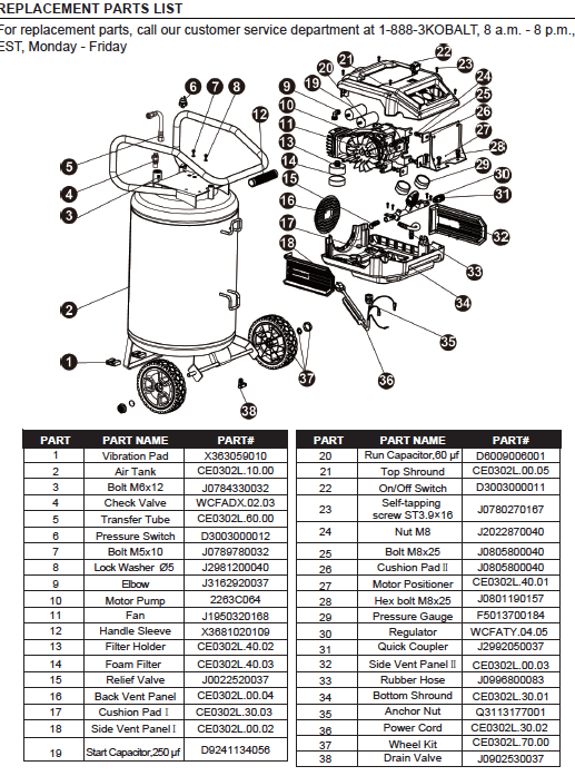 24+ Kobalt Air Compressor Wiring Diagram