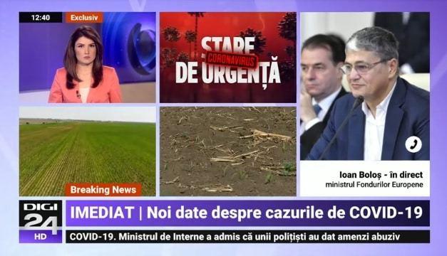 Interviu video cu ministrul fondurilor Europene la Digi 24