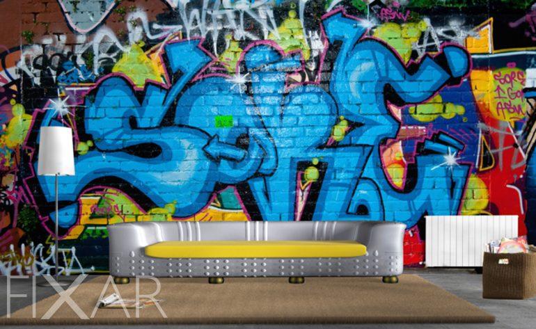 Hausgemachtes Graffiti  Fototapeten graffiti  Fototapeten  FIXARde