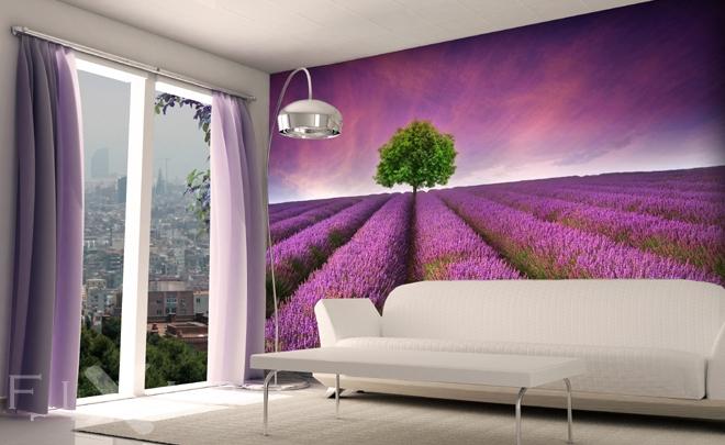 Lavendelwiesen  Fototapeten Provence  Fototapeten  FIXARde