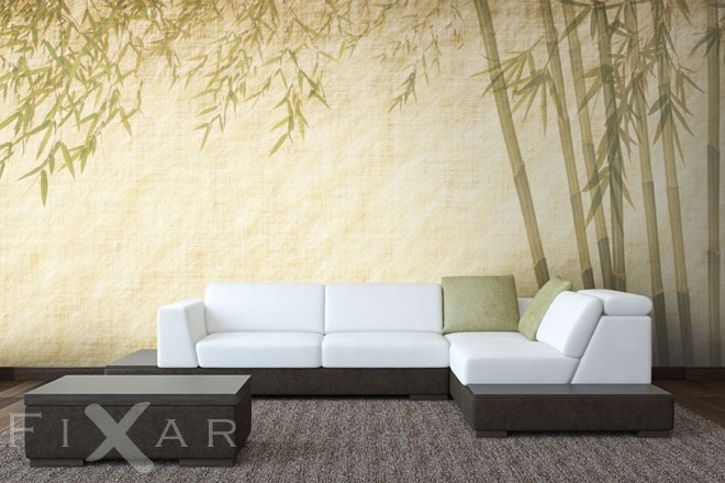 Dezenter Bambus  Fototapeten orientalische  Fototapeten  FIXARde