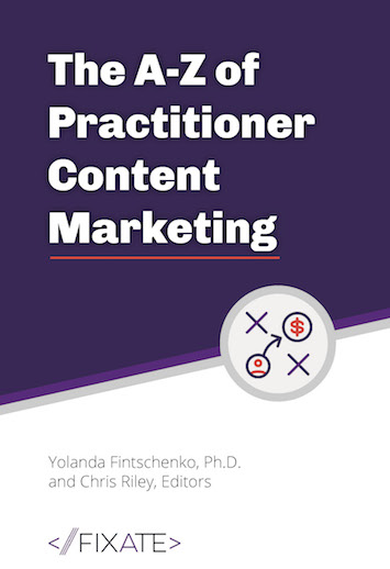 Practitioner content marketing is an approach to building thought leadership by publishing content about important technical issues or problems in your market space, and the content is written by practitioners from outside your company.