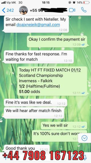 51 odds won 01 12 fixed match
