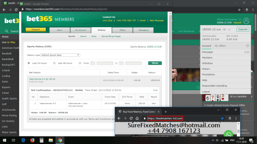 fixed matches 1x2 correct score won 183 odds