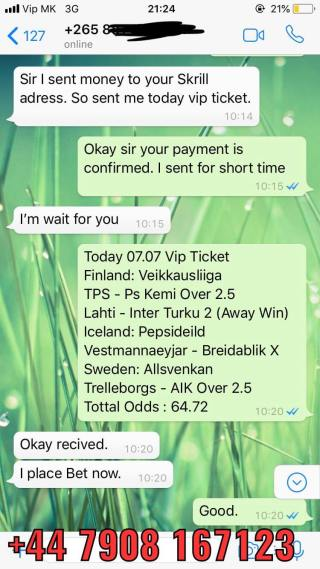 vip ticket matches fixed combo
