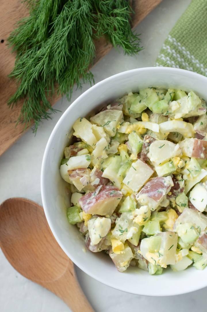 Fixed on Fresh - Healthy Cucumber Dill Potato Salad