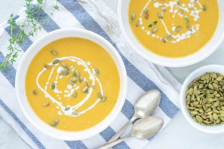 Paleo Roasted Autumn Squash Soup - Fixed on Fresh