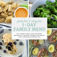 Gluten Free, Dairy Free 7-day  Menu for a Family