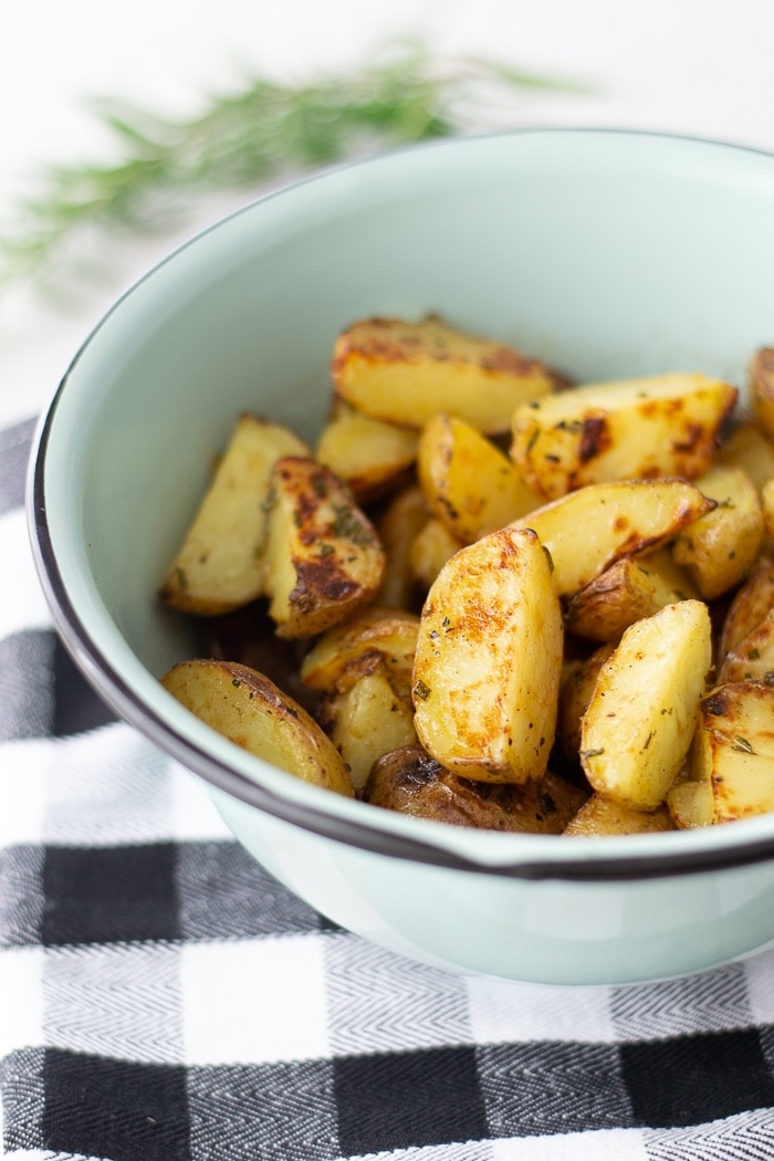 Grilled Potatoes with Rosemary Browned Butter - Fixed on Fresh