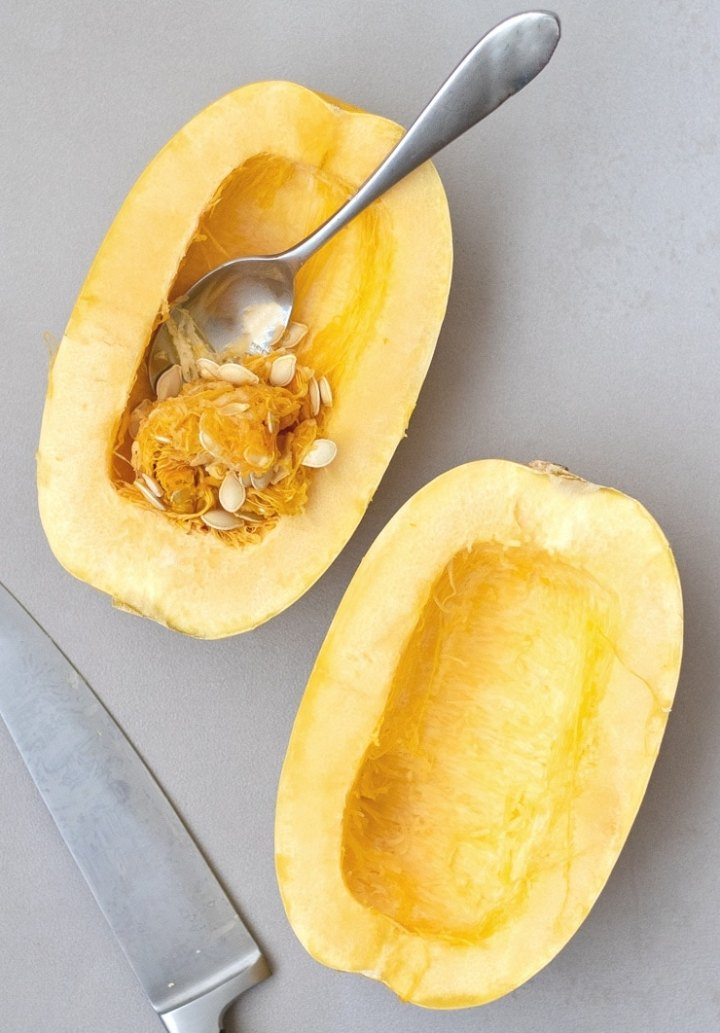 What's the easiest way to cut spaghetti squash
