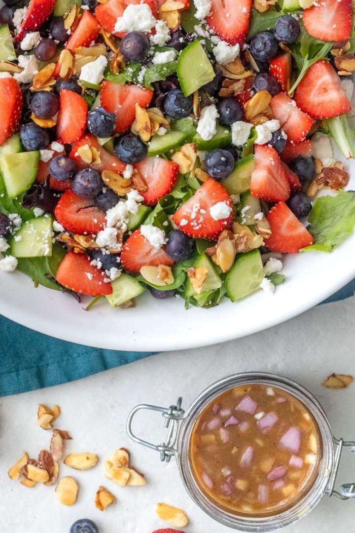 Honey Balsamic Vinaigrette for spring strawberry salad