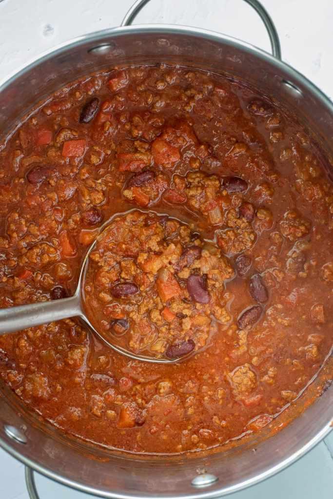 Chili in the pot