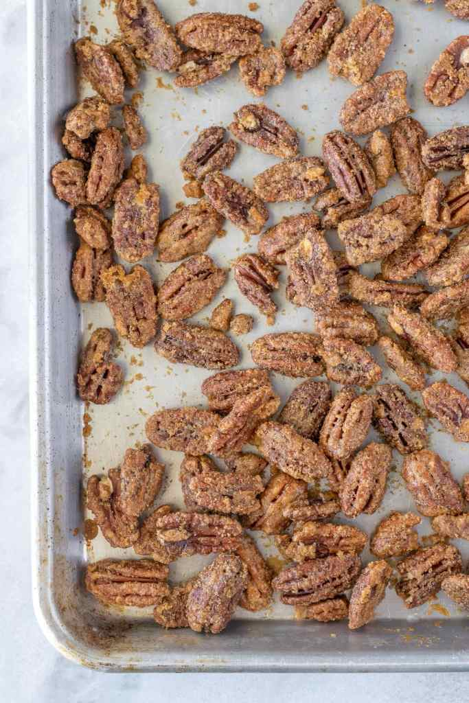Finished candied pecans
