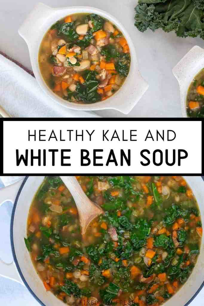 Rich and hearty white bean soup is loaded with the Tuscan flavors of rosemary, cannellini beans, bacon, and garlic. Kale, onions, celery, and carrots also load this soup with flavor and healthy nutrients.