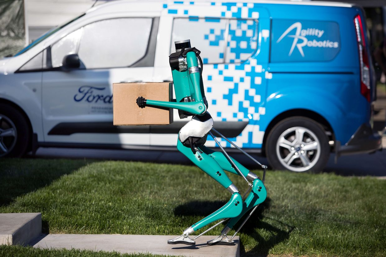 Agility Robot Delivering Package