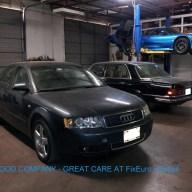 2005 Audi A4 in shop