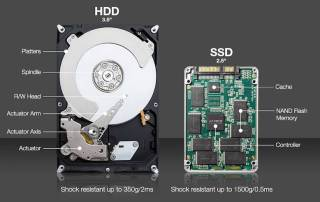 Why is it worth to change your hard drive to ssd. We can replace your old hard drive into SSD same day!