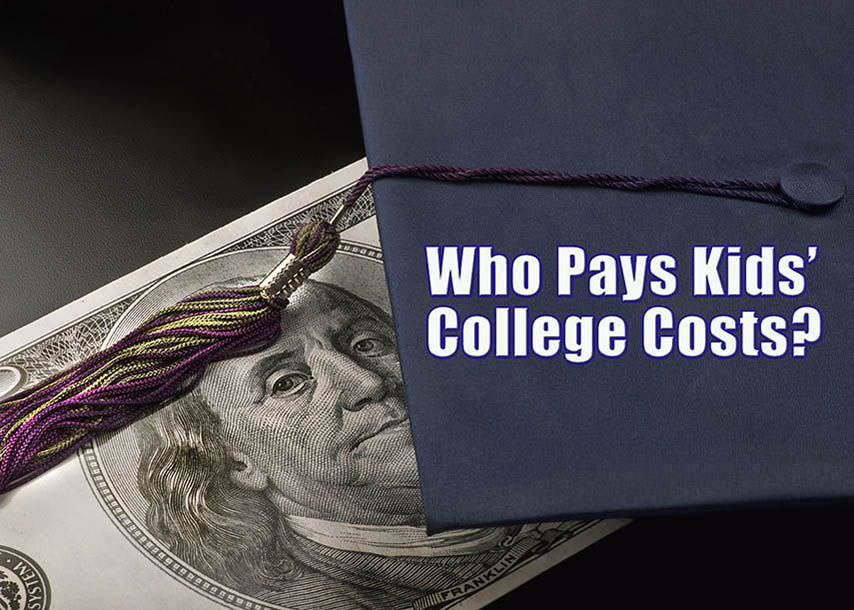 who pays kids college costs in divorce