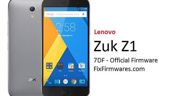 Lenovo Zuk Z1 Official Firmware Download - Fix Firmware