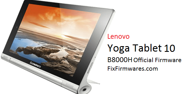 Lenovo Yoga Tablet 10 B8000H Official Firmware Update