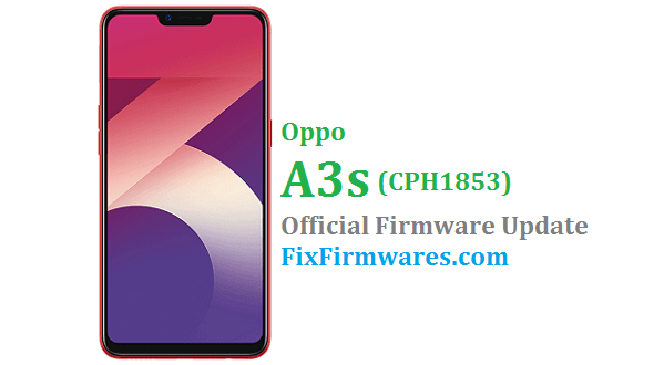 Oppo A3s - CPH1853 Official - Oppo Firmware Download