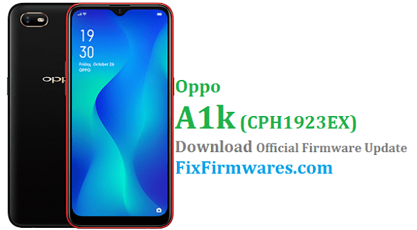 Oppo A1k (CPH1923) Stock Rom - Oppo Firmware Download