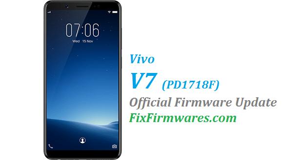 Vivo V7, PD1718F