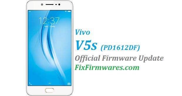 Vivo V5s Firmware (1612DF) PD1612DF | Fix Firmwares