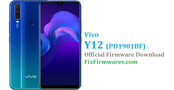 Vivo Y12 Firmware, Vivo Y12, PD1901BF,