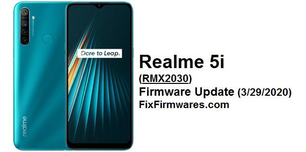 Realme 5i (RMX2030) Firmware Update Fix Firmwares