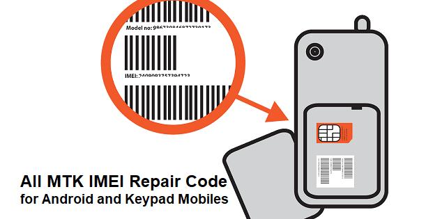 MTK IMEI Repair Code