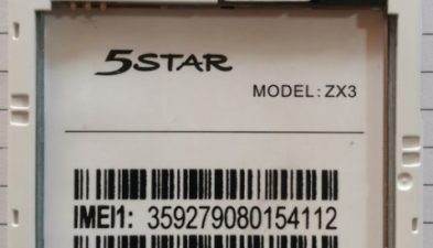 5Star ZX4 Flash File Firmware Without Password Mt6572
