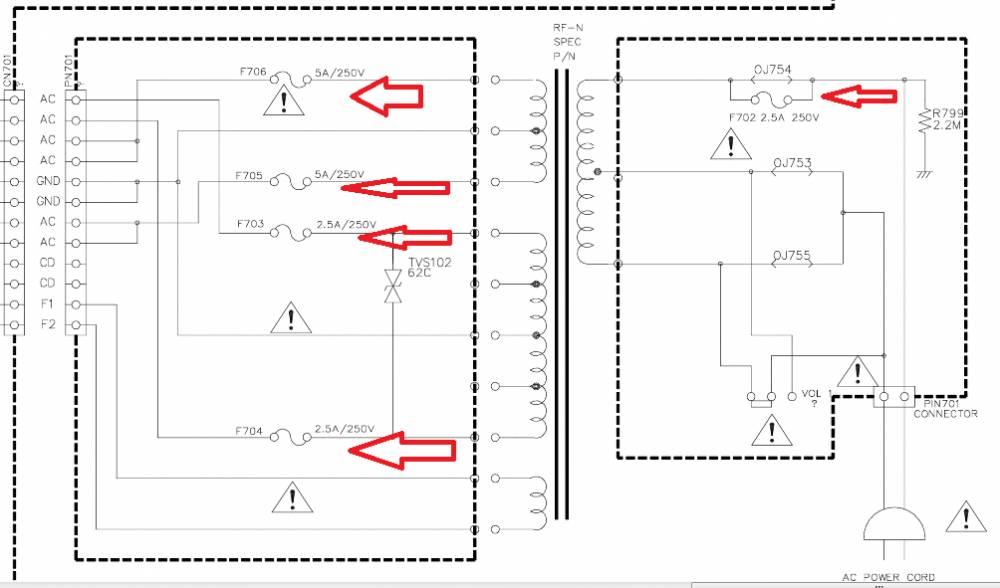 Принципиальная Схема центра LG LM-K2530