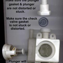 Ge Refrigerator Diagram 1998 Club Car Wiring 36 Volt / Kenmore Dishwasher Check Valve Assembly; No-drain Or Poor Draining; Valve; ...