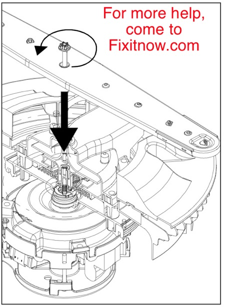 How To Remove The Lower Spray Arm In A Maytag Mdb