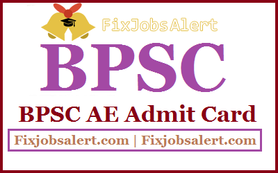 BPSC AE Admit Card 2019 @ bpsc.bih.nic.in Bihar PSC Assistant Engineer Exam Date, Hall Ticket