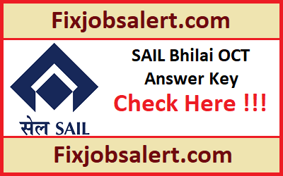 SAIL Bhilai OCT Trainee Answer Key 24th March 2019 Download Ques Paper Solution, OMR Sheet