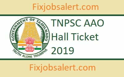TNPSC AAO Hall Ticket 2019 @ tnpsc.gov.in Assistant Agricultural Officer Exam Admit Card