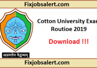 Cotton University Exam Routine 2019 for 2nd, 4th, 6th Sem BA, B.Sc, BCA Time Table