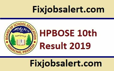 HPBOSE 10th Result 2019 @ hpbose.org Name Wise