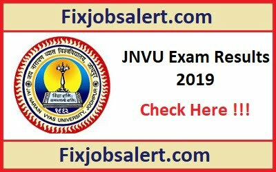 JNVU BA B.Sc B.Com Result 2019 for 1st, 2nd, 3rd Year Results @ jnvuonline.in