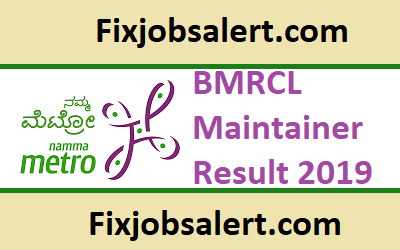 BMRCL Maintainer Result 2019 @ english.bmrc.co.in Results ~ Cut Off & Merit List