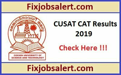 CUSAT CAT Result 2019 Download Cochin University Rank List Declared @ cusat.ac.in