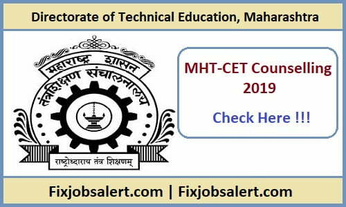 MHT CET Counselling 2019 Dates MH-CAP 1st, 2nd, 3rd Round Seat Allotment Result @ mahacet.org