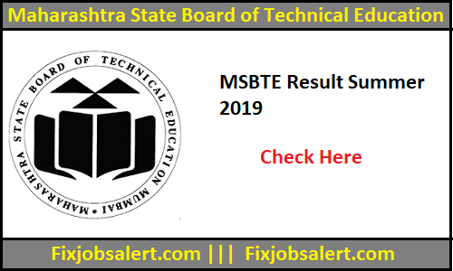 MSBTE Result Summer 2019 :- Diploma 2nd, 4th, 6th Sem Results @ msbte.org.in
