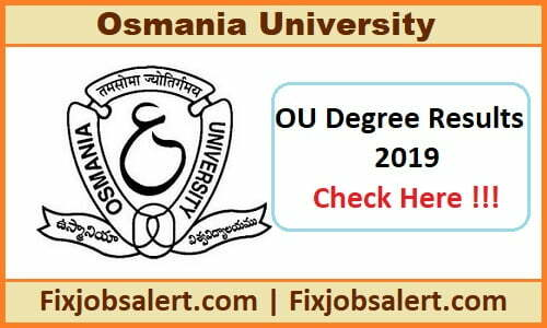 OU Degree Result March/ April 2019 Manabadi 2nd, 4th, 6th Even Semester Results @ osmania.ac.in